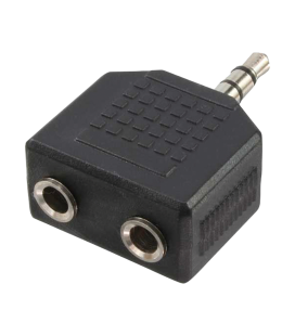 Adapter 3,5 mini jack 1x --> 2x LogiLink