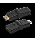 Adapter HDMI (F) ---> HDMI (M) 180° draaibaar LogiLink