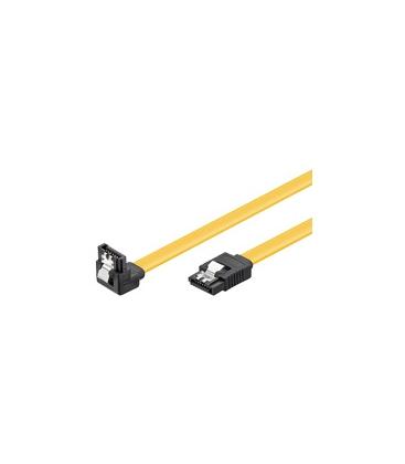 SerialATA Goobay 0.30m 6GBs 90� hoek met clip Geel