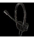 LogiLink Stereo Headset met Microphone DeLuxe zwart