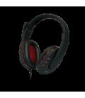 LogiLink Stereo Headset met Microphone zwart/rood