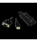 Adapter VGA en USB (M) --> HDMI (F) LogiLink